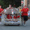 Newburyport: The entry from Bob Lobster makes it's way down Federal Street in the Yankee Homecoming Bed Race sprint in Newburyport Thursday night. Jim Vaiknoras/Staff photo
