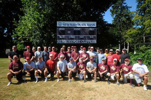 Newburyport: The participants in this years annual Newburyport High baseball alumni game. Jim Vaiknoras/Staff photo