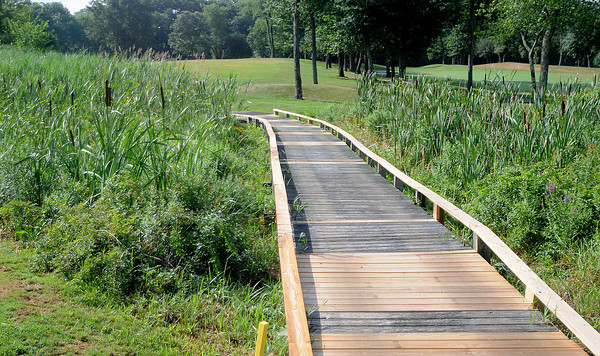 Georgetown: A bridge over a wet lands area on the par 5 2nd at the Black Swan Country Club in Georgetown. Jim Vaiknoras/Staff photo