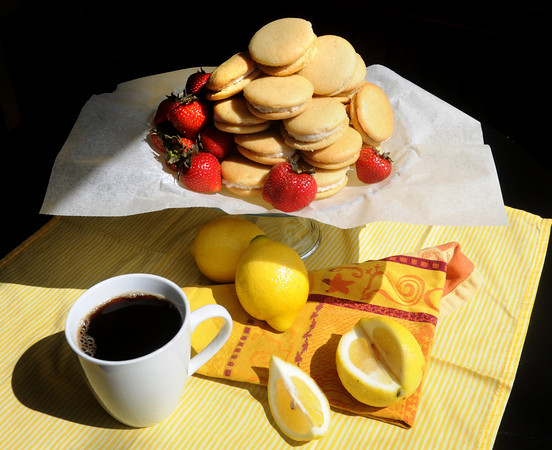 Newburyport: Lemon whoopie pies and coffee at the Chococoa Baking Company in Newburyport. Jim Vaiknoras/Staff photo