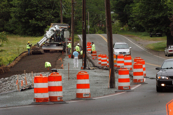 Amesbury: Construction crews have been busy on Elm Street just north of Route 110 in Amesbury. The work is to widen the road near the busy intersection. Bryan Eaton/Staff Photo