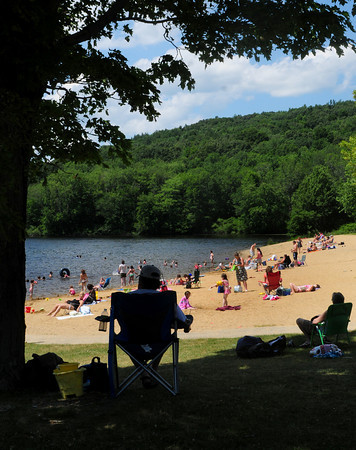 Amesbury: With Amesbury Schools out for the season and an 85 degree day, Lake Gardner Beach was a busy place Monday afternoon. Rain is expected, along with some sun, for mid-week. Bryan Eaton/Staff Photo