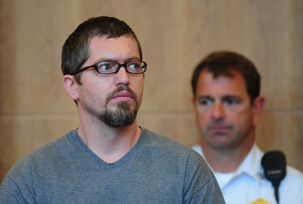 Newburyport: Neil Christopherson, 39, of Derry, N.H. appears in Newburyport District Court before Judge Alan Swan on charges related to a road rage incident involving a Lawrence couple. Bryan Eaton/Staff Photo