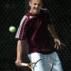 Newburyport: Nick Filipancic in first singles against Austin Prep. Bryan Eaton/Staff Photo