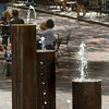 Newburyport: The water fountains on Inn Street in Newburyport are a popular spot for youngsters on really hot days. Bryan Eaton/Staff Photo