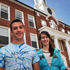 Newburyport: Newburyport High 2010 salutatorian Stewart Pine, left, is heading to Harvard University and valedictorian Samanth Baribeault is going to McGill University. Bryan Eaton/Staff Photo