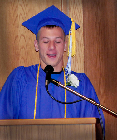 Georgetown: Georgetown High salutatorian Bryant Yavorski tells some things people didn't know about his classmates. Bryan Eaton/Staff Photo
