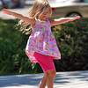 Newburyport: Brooke Bromby, 5, of Newburyport, dances on the stage at the Waterfront Park near the boardwalk Wednesday afternoon. Photo by Ben Laing/Staff Photo