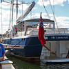 Newburyport: The Mistseaah, a 156 foot yacht from the Cayman Islands, docked at the waterfront in Newburyport Wednesday afternoon, drawing a crowd from passers-by. Photo by Ben Laing/Staff Photo