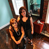 Newburyport: Melissa Paulhus, left and Jennifer Taormina. Photo by Ben Laing/Staff Photo - FOR AD - Aaqua Blue Salon