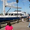Newburyport: The Mistseaah, a 156 foot sailboat from the Cayman Islands, docked at the waterfront in Newburyport Wednesday afternoon, drawing a crowd from passers-by. Photo by Ben Laing/Staff Photo