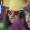 Newburyport: Newburyport High senior Bridget Evangelista wore her sunglasses to graduation at World War Memorial Stadium in Newburyport Monday night. Jim Vaiknoras/Staff photo
