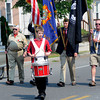 Amesbury:Jared Launsby of the Amesbury high band sets the cadence for  the Amesbury Memorial Day parade  Monday morning. Jim Vaiknoras/Staff photo