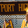 Newburyport: Newburyport High Valedictorian Samantha Baribeault speaks during graduation at World War Memorial Stadium in Newburyport Monday night. Jim Vaiknoras/Staff photo