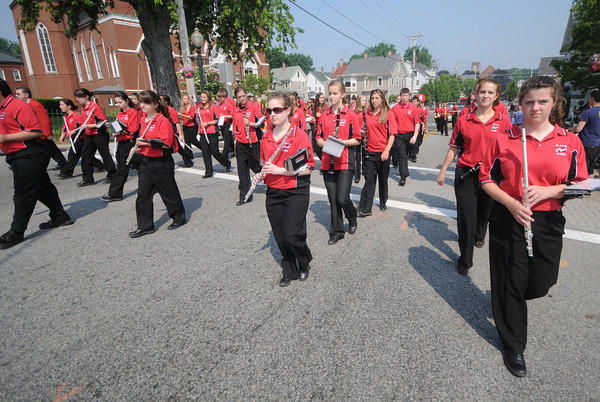 Amesbury: The Amesbury high school band marches in the Amesbury Memorial Day parade on  Monday morning. Jim Vaiknoras/Staff photo