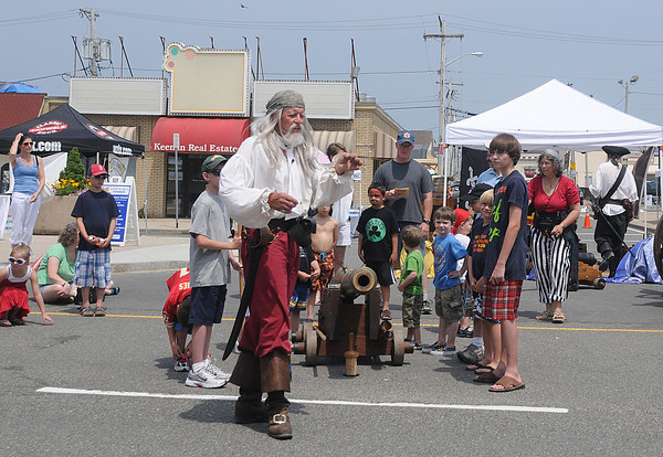 salisbury:Crudbeard the Pirate gives a hands on cannon demostration at the Sand and Sea Festival at Salisbury Beach Center  this weekend. Jim Vaiknoras/Staff photo