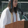 West Newbury: Pentucket Salutatorian Amy Babeu gives her address  at commencement Saturday morning in West Newbury. Jim Vaiknoras/Staff photo