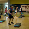 Salisbury:Acea Theroux teaches a Plyo Power work-out at Latitude Fitness in Salisbury.Jim Vaiknoras/Staff photo