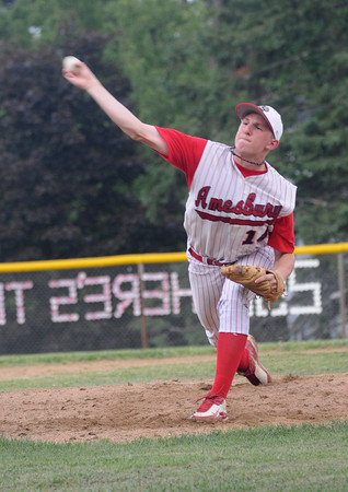 Amesbury: Amesbury's James Paraday pitches Saturday for the Indians. Jim Vaiknoras/Staff photo