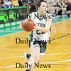 Boston: Pentucket senior Jessica Gayton (22) drives toward the basket during Tuesday's game against Archbishop Williams at the TD Garden in Boston. Photo by Ben Laing/Staff Photo