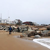 Newbury: The groin at Plum Island center, facing south to north. Photo by Ben Laing/Staff Photo