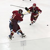 Chelmsford: Newburyport's Ryan Cutter (11) levels a Wilmington player during Monday night's thrilling 3-1 win in Chelmsford. Photo by Ben Laing/Staff Photo