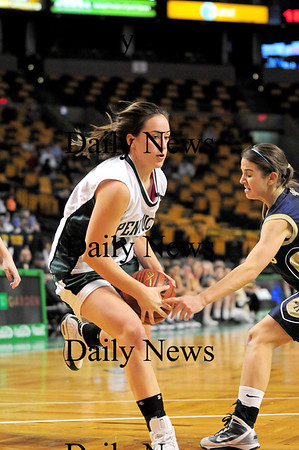 Boston: Ashley Viselli (24) of Pentucket knifes through the Archbishop Williams defense as her Sachems went on to a 62-37 victory at the TD Garden Tuesday afternoon. Photo by Ben Laing/Staff Photo