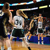 Boston: Erin McNamara (12) launches a three pointer during Pentucket's 62-37 win over Archbishop Williams at the TD Garden Tuesday afternoon. Photo by Ben Laing/Staff Photo