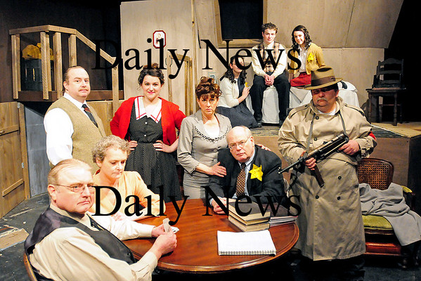 """Amesbury: The cast of """"The Diary of Anne Frank"""" at the Amesbury Playhouse. Photo by Ben Laing/Staff Photo"""