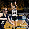 Boston: Ashley Viselli (24) of Pentucket launches a three pointer during Tuesday's 62-37 win over Archbishop Williams at the TD Garden in Boston. Photo by Ben Laing/Staff Photo