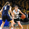 Boston: Erin McNamara (12) of Pentucket looks to break down an Archbishop Williams defender during Tuesday's 62-37 win at the TD Garden. Photo by Ben Laing/Staff Photo