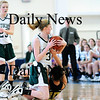 Boston: Pentucket's Vanessa Cahill (34) battles for a loose ball with Bishop Fenwick's Sarah James (10) during Saturday's game at Emmanuel College in Boston. Photo by Ben Laing/Staff Photo