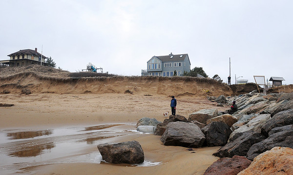 Newbury: The dunes south of Plum Island's central groin. Photo by Ben Laing/Staff Photo
