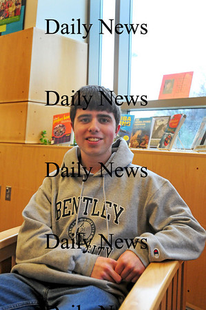 Amesbury: Amesbury High School senior Justin Labatt has not missed a day of school in his entire academic career. Photo by Ben Laing/Staff Photo