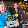 Newburyport: Patti Marsh, left, creator of the game Treasure Pools with designer Patti McCarthy. Bryan Eaton/Staff Photo