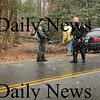 Salisbury: Amesbury's canine unit was brought in to assist Salisbury and Seabrook Police track down two suspects, along Seabrook Road in Salisbury, which apparently stole two ATV's in Salisbury yesterday morning. The suspects eluded police, but they recovered the vehicles. Bryan Eaton/Staff Photo