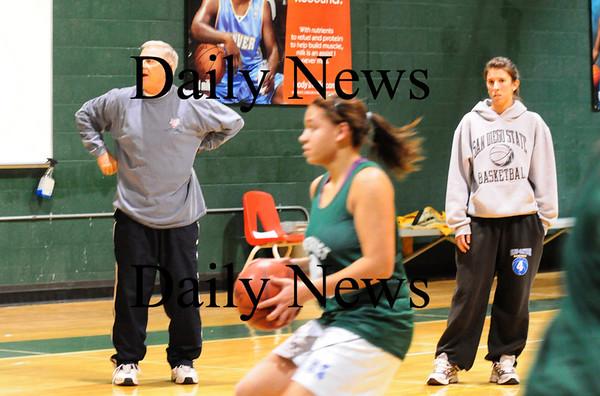 West Newbury: Pentucket girls basketball assistant coaches Bob and Amy Beaton. Bryan Eaton/Staff Photo