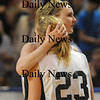 Worchester: Pentucket's Vannessa Cahill consoles teammate  Holly Jakobson after their loss in the  State chamionship game against Lee Saturday at the DCU Center in Worchester. Jim Vaiknoras/Staff photo