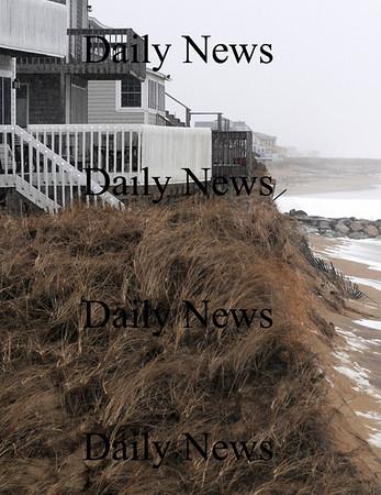 Newbury: Erosion at the Nyes property on Plum Island. Jim Vaiknoras/Staff photo