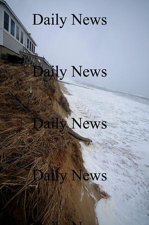 Newbury: Erosion at the Drinkwater property on Plum Island. Jim Vaiknoras/Staff photo