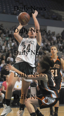 Worchester: Pentucket's Ashley Viselli glides in for a basket during the Sachems State chamionship game against Lee Saturday at teh DCU Center in Worchester. Jim Vaiknoras/Staff photo