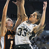 Worchester: Pentucket's Abby Stephenson battles for a rebound during the teams loss in the  State chamionship game against Lee Saturday at the DCU Center in Worchester. Jim Vaiknoras/Staff photo