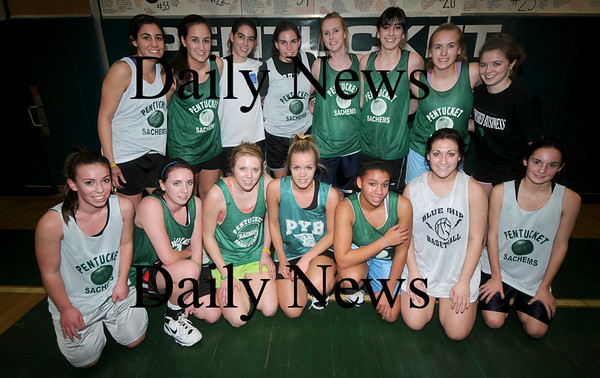 West Newbury: The Pentucket High School girls basketball team at their practice at the school. JIm Vaiknoras/Staff