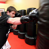 Amesbury: Amesbury's Sam Bruce trains at Saab's East Coast Martial Arts in Amesbury in preperation for an upcoming fight Saturday night in Dover, NH. Photo by Ben Laing/Staff Photo
