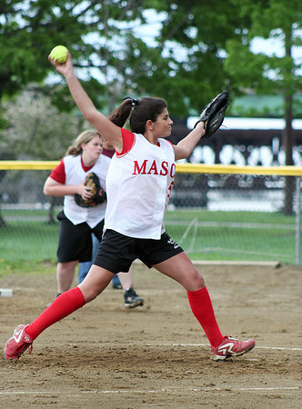Newburyport: Masco pitcher, ----, delivers the ball during Monday afternoon's game at Newburyport. Photo by Ben Laing/Staff Photo