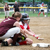 Newburyport: Newburyport's Rachel Notargiacomo (7) tags out a Masco runner at third base during Monday afternoon's game at Cashman Park. Photo by Ben Laing/Staff Photo