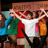 "West Newbury: The cast of the Pentucket Middle School's production of ""High School Musical"" rehearse Monday afternoon. The show opens Friday night. Photo by Ben Laing/Staff Photo"