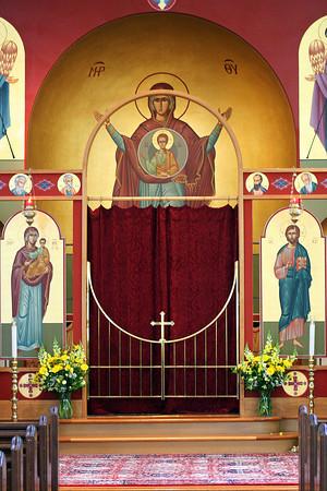 Newburyport: The altar at the Greek Orthodox Church on Harris Street in Newburyport. Photo by Ben Laing/Staff Photo