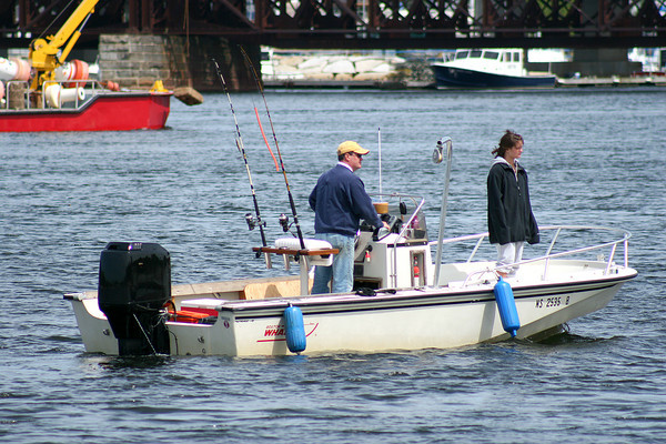 Newbury: A new Federal law requiring salt water fishermen to acquire a permit is now in effect. Photo by Ben Laing/Staff Photo