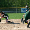 Groveland: Pentucket shortstop Sarah Dickinson (7) stabs a ground ball during Wednesday's game against Georgetown. Photo by Ben Laing/Staff Photo